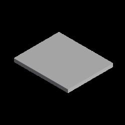 Tôle rectangulaire